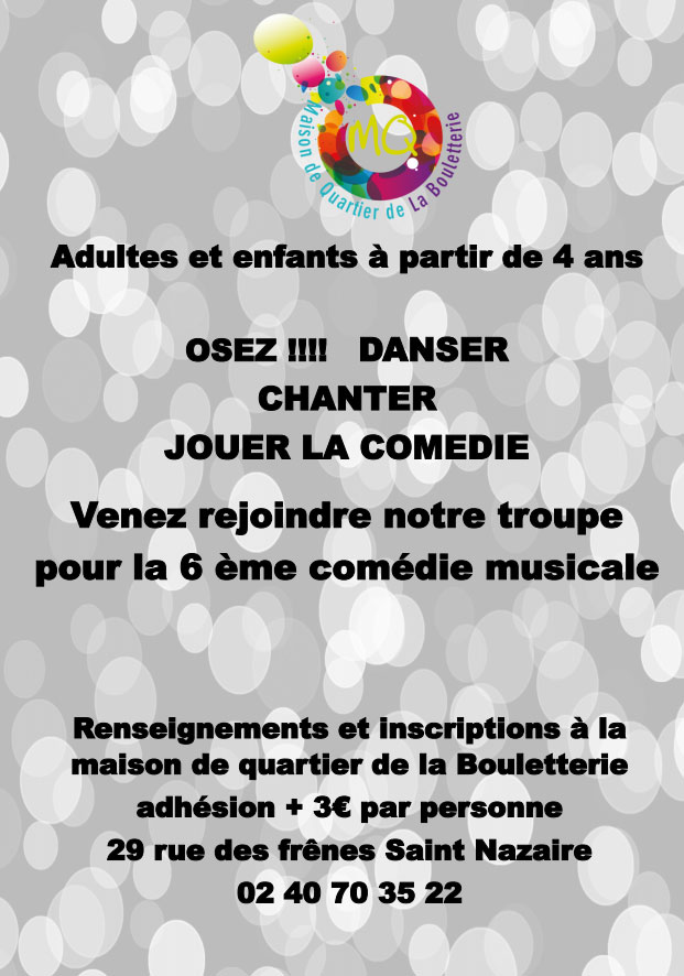 inscription comedie musicale